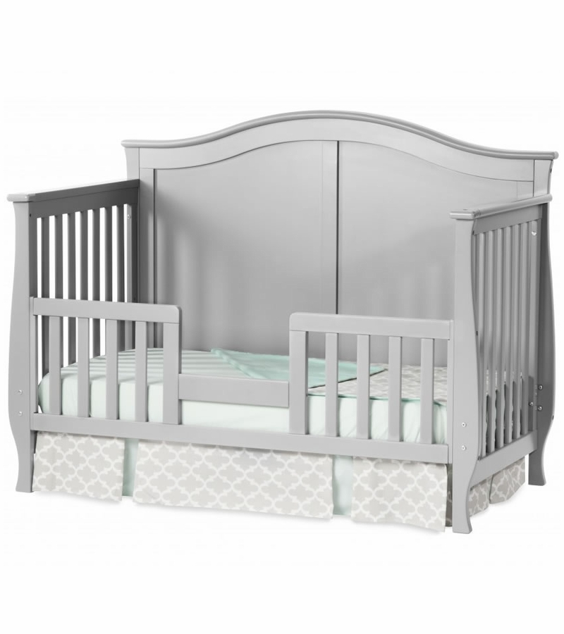 gray convertible baby cribs million dollar baby louis 4 in 1 convertible crib manor grey. Black Bedroom Furniture Sets. Home Design Ideas