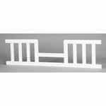 Child Craft 4-in-1 Convertible Crib Toddler Guard Rail - Matte White