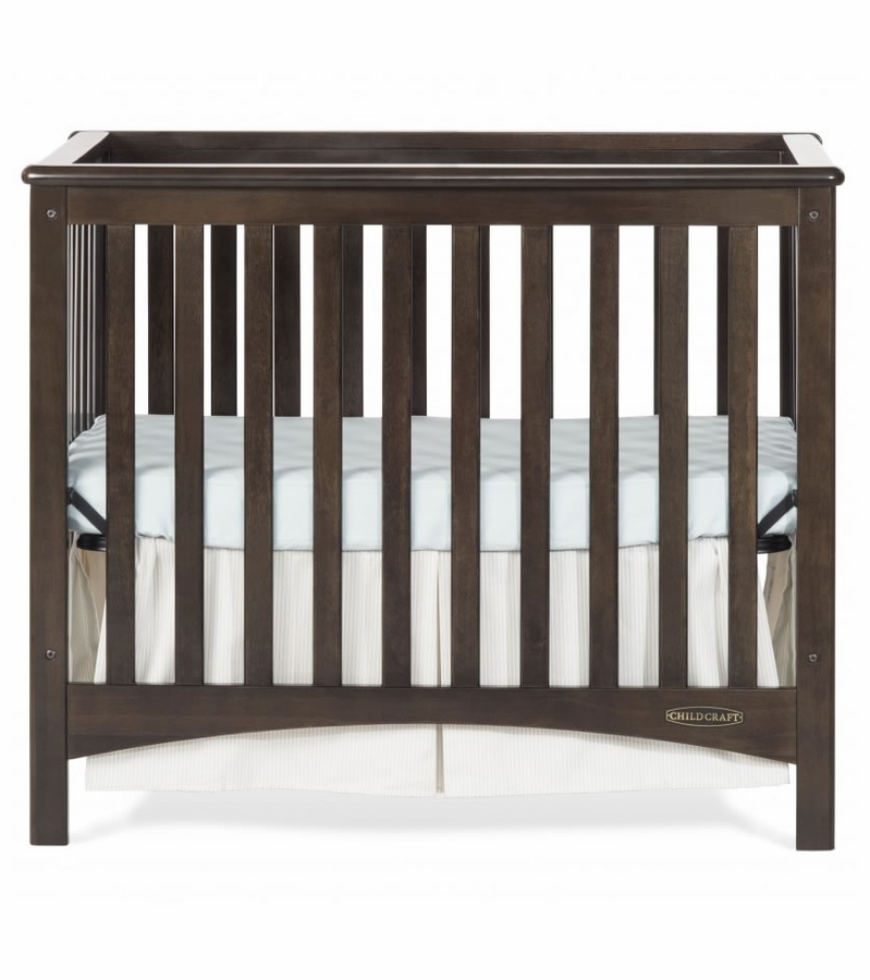 Child Craft London 2-in-1 Convertible Mini Crib - Slate