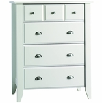 Child Craft Shoal Creek 4 Drawer Chest in Matte White