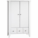Child Craft Shoal Creek Armoire in Matte White
