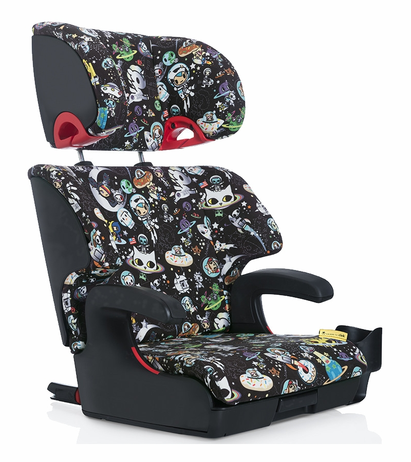 clek oobr booster car seat tokidoki space. Black Bedroom Furniture Sets. Home Design Ideas