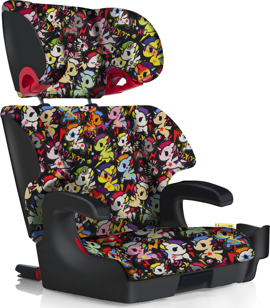 clek oobr booster car seat tokidoki unicorno disco. Black Bedroom Furniture Sets. Home Design Ideas