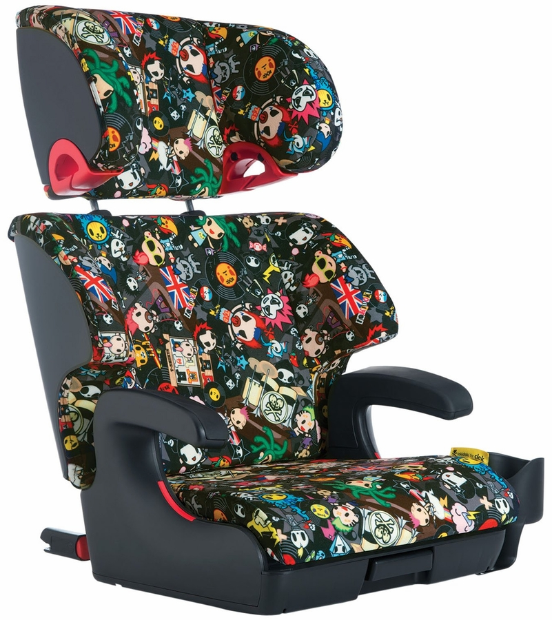 clek oobr booster car seat tokidoki rebel. Black Bedroom Furniture Sets. Home Design Ideas