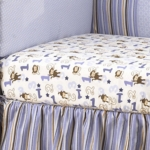 CoCaLo Baby Monkey Mania Fitted Sheet in Allover Print