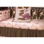 CoCaLo Natural Serene Foral Print Fitted Sheet