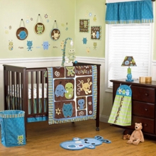 Cocalo Peek A Boo Monsters  Piece Crib Bedding Set
