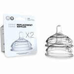 Comotomo Replacement Nipple 2-Pack - Slow Flow