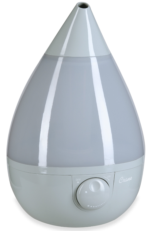 crane drop ultrasonic cool mist humidifier crane cool mist drop shape humidifier gray 9507