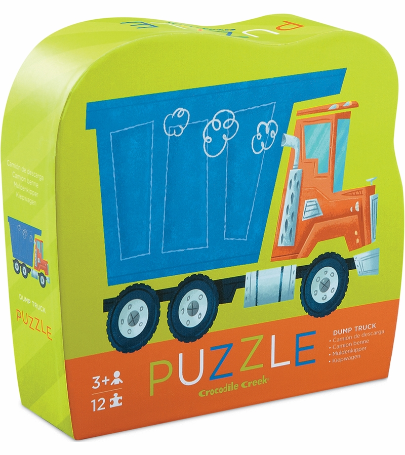 Top Crocodile Creek Mini Shaped Box Puzzle - Dump Truck TF72