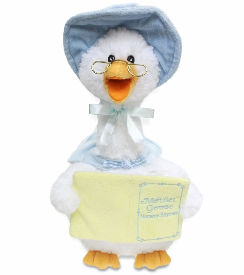 Cuddle Barn Mother Goose Animated Plush Toy Blue