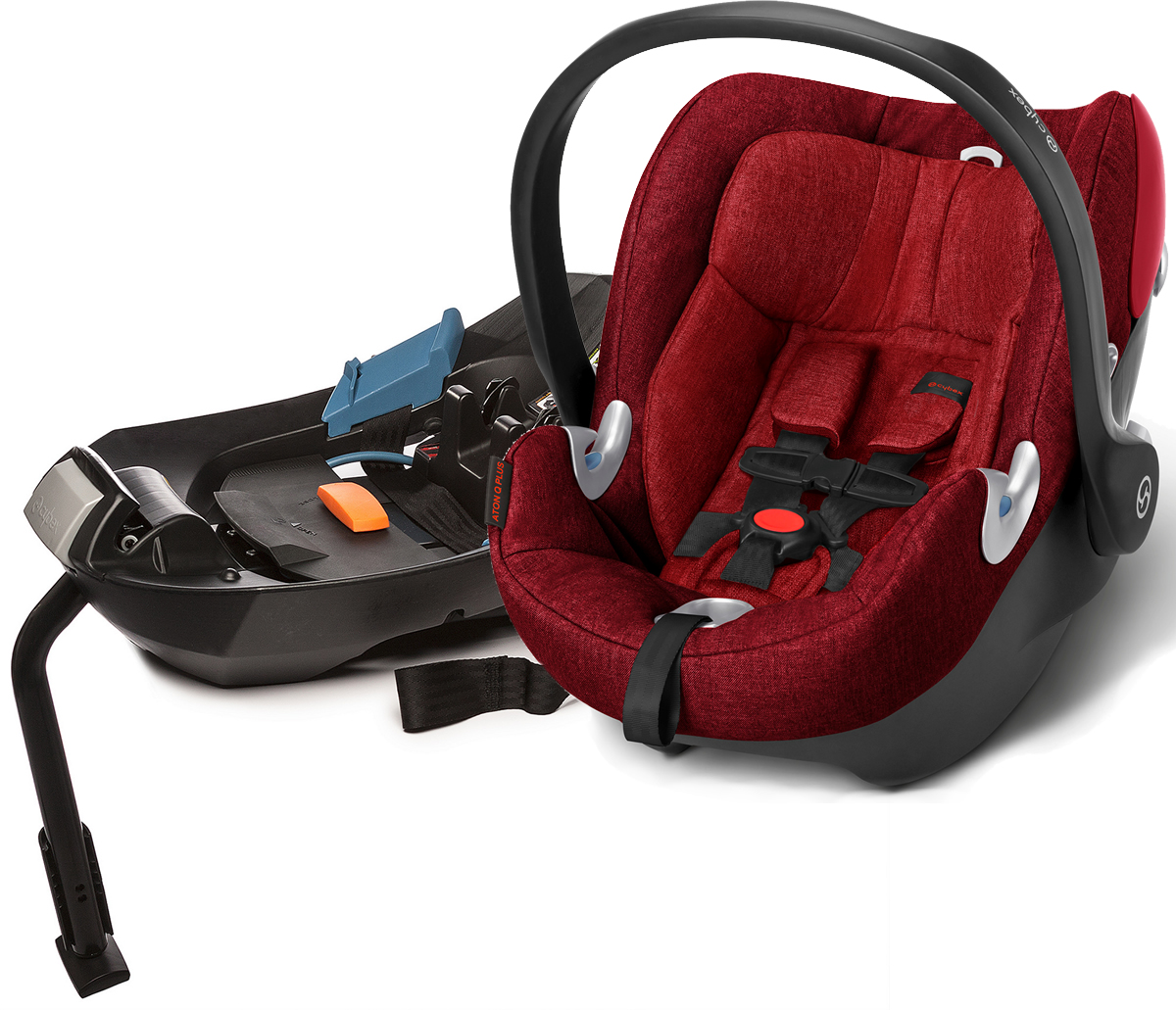 cybex aton q plus infant car seat hot spicy. Black Bedroom Furniture Sets. Home Design Ideas