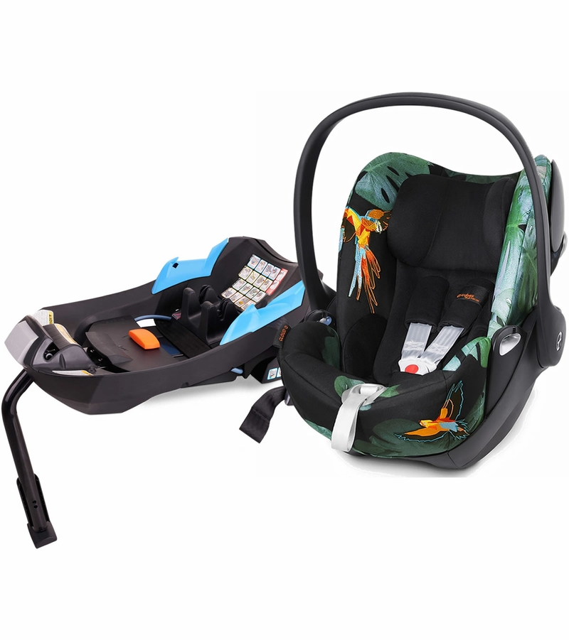 cybex cloud q infant car seat birds of paradise. Black Bedroom Furniture Sets. Home Design Ideas
