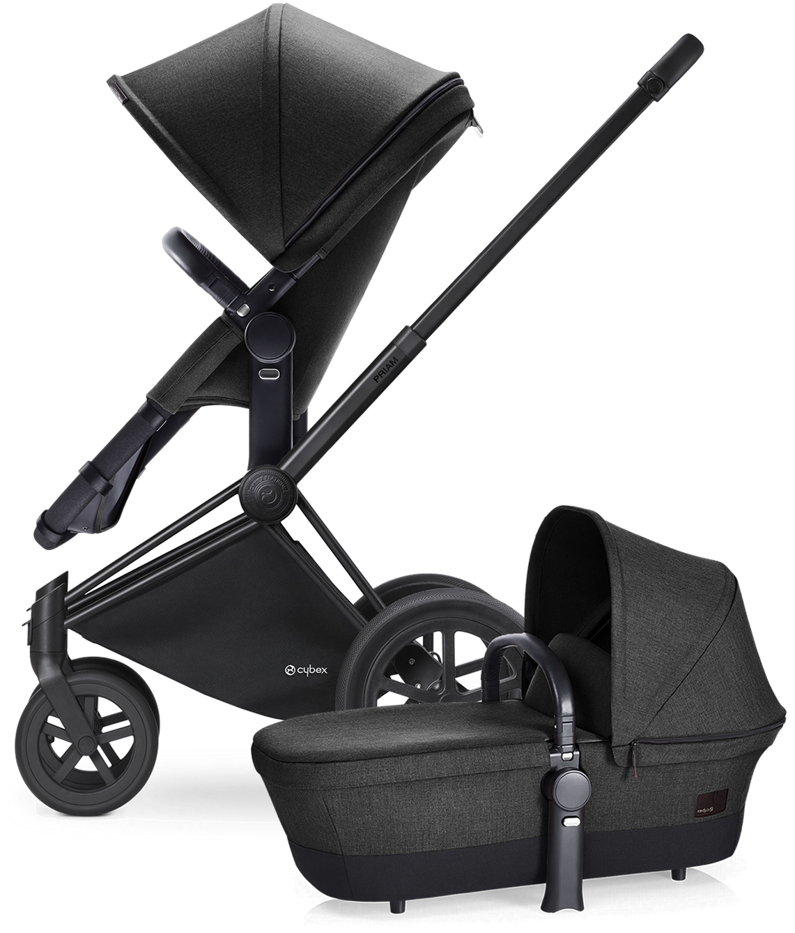 Avocent Priam 2-in-1 All-Terrain Stroller - Matte Black/B...