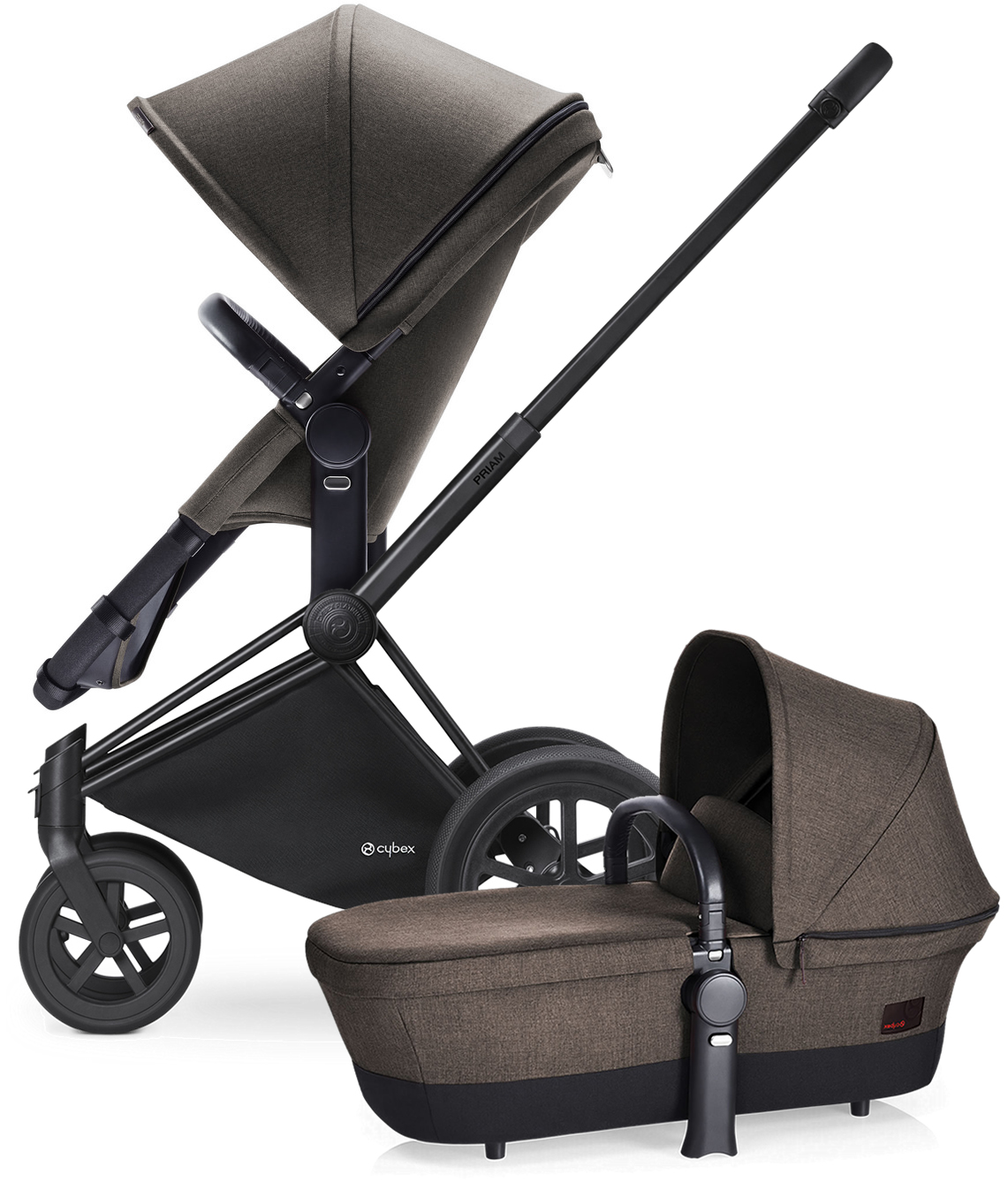 Avocent Priam 2-in-1 All-Terrain Stroller - Matte Black/D...