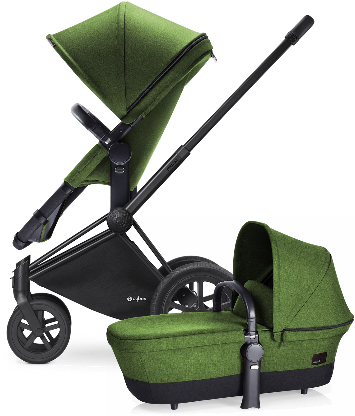 Avocent Priam 2-in-1 All-Terrain Stroller - Matte Black/H...