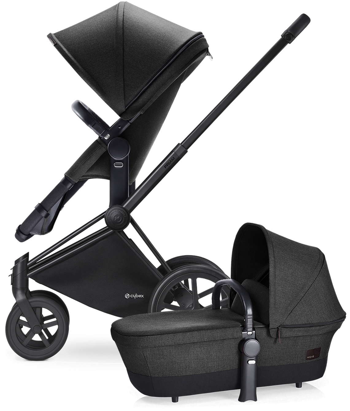 Avocent Priam 2-in-1 Trekking Stroller - Matte Black/Blac...