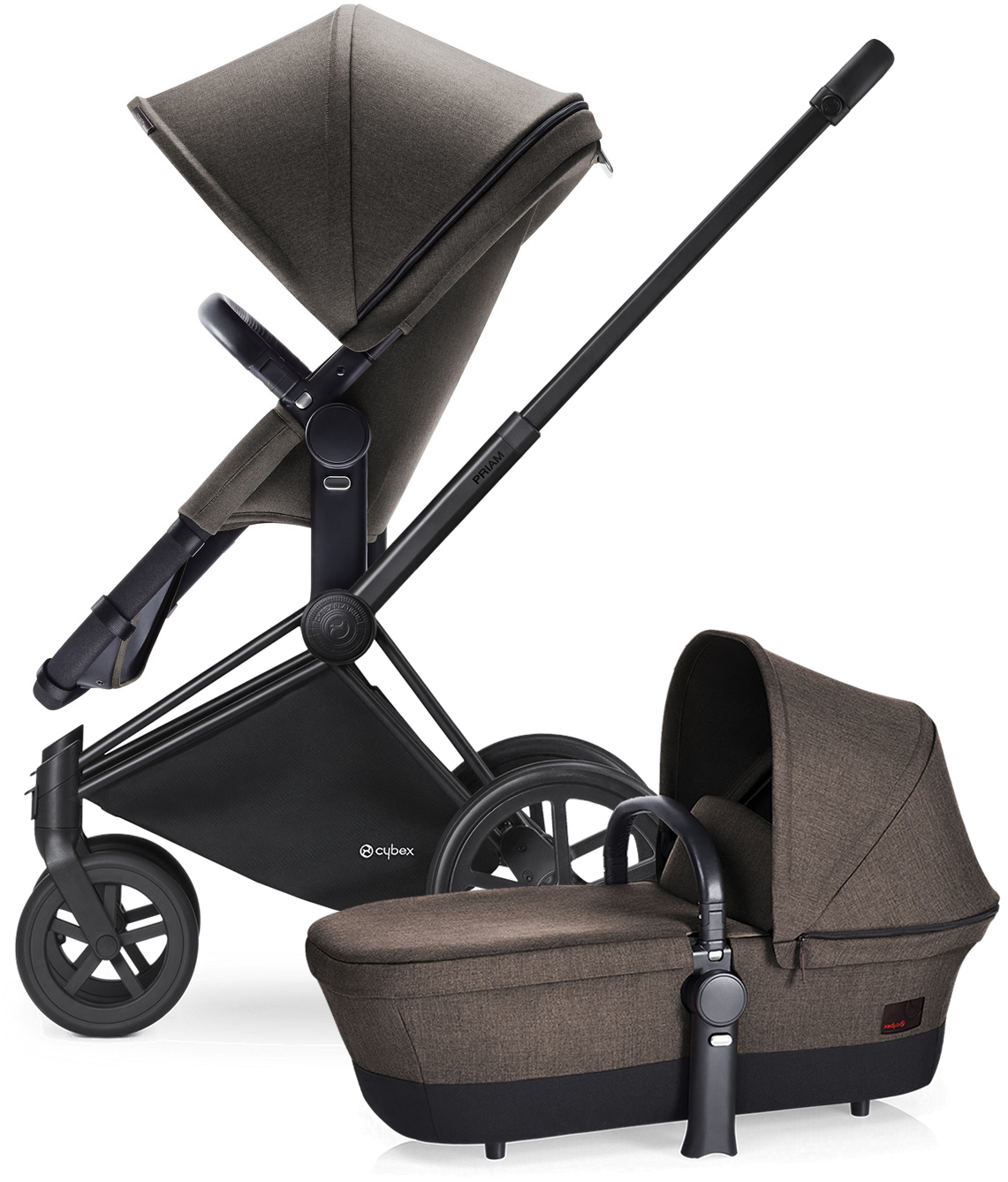 Avocent Priam 2-in-1 Trekking Stroller - Matte Black/Dese...