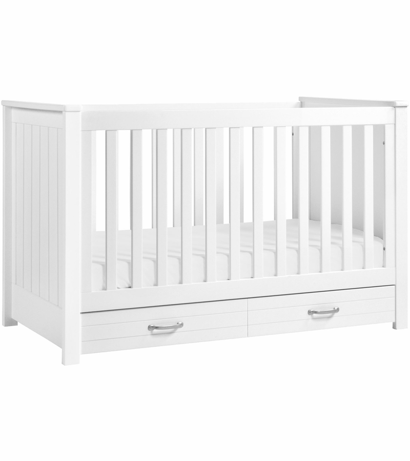 davinci asher 3in1 convertible crib with toddler bed conversion kit in white finish