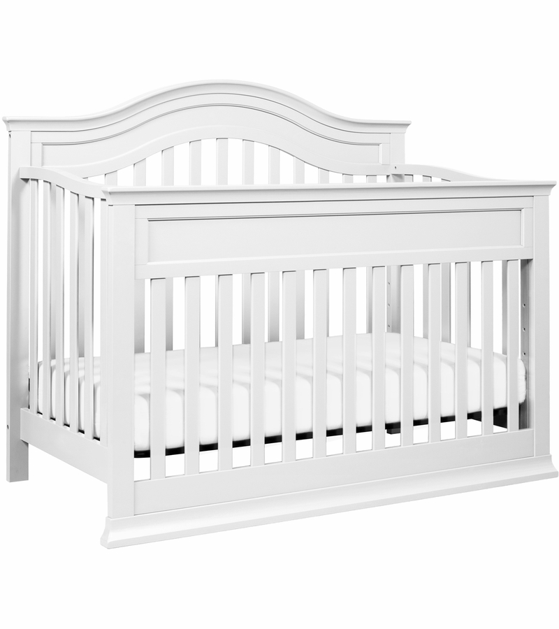 davinci brook 4in1 convertible crib with toddler bed conversion kit in white finish
