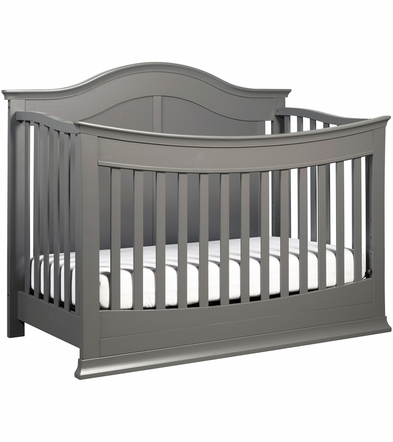 davinci meadow 4in1 convertible crib with toddler bed conversion kit in slate finish