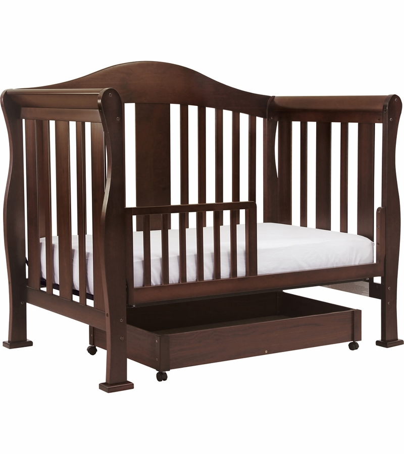 Davinci parker 4 in 1 convertible crib in coffee for Child craft convertible crib instructions