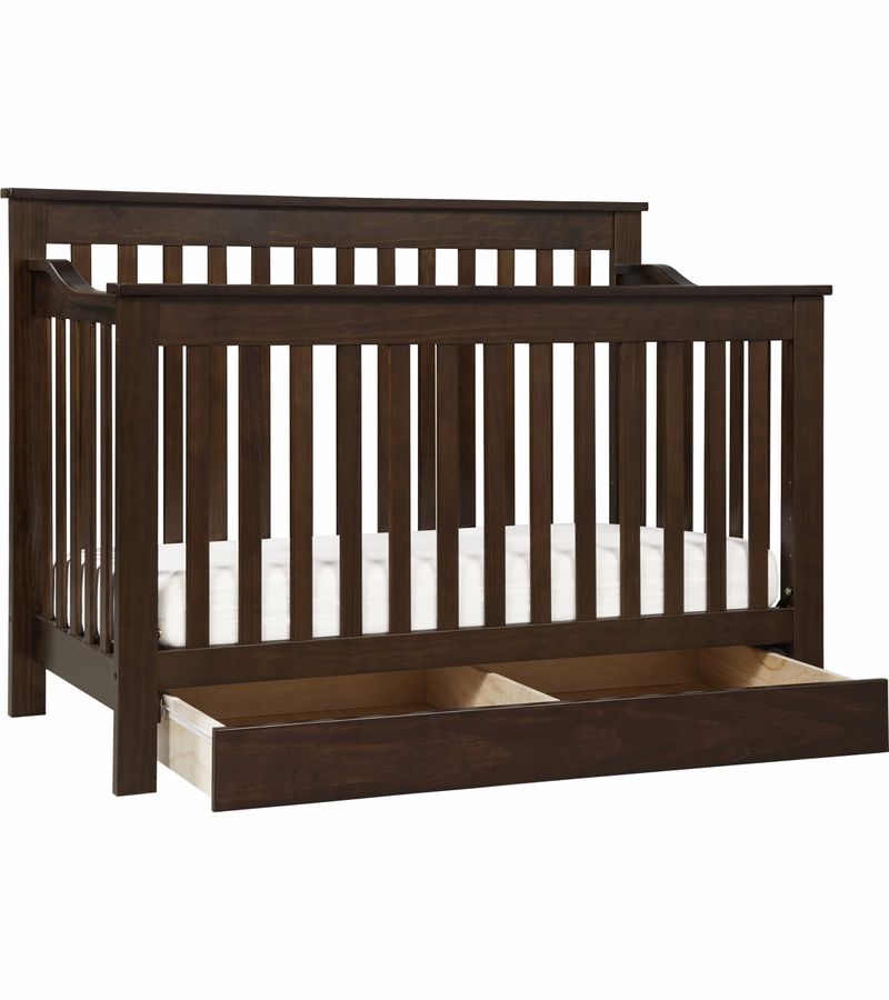 davinci piedmont 4in1 convertible crib and toddler bed conversion kit espresso - Crib Conversion Kit