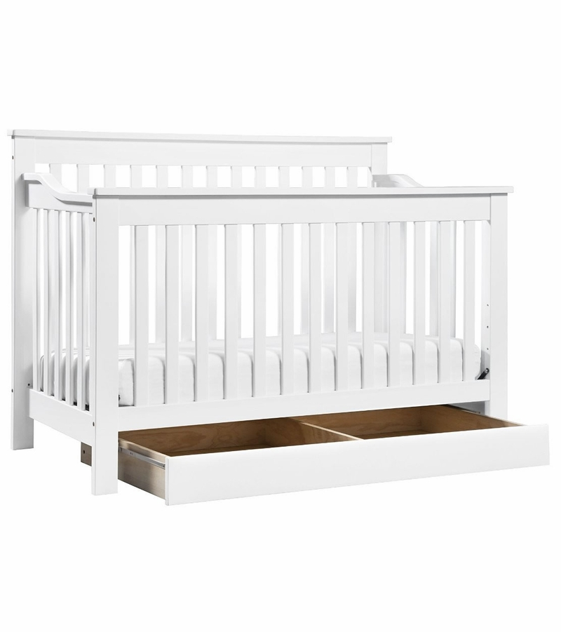 davinci piedmont 4 in 1 convertible crib toddler bed conversion kit white. Black Bedroom Furniture Sets. Home Design Ideas