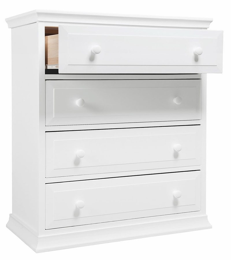 Davinci Signature 4 Drawer Tall Dresser White