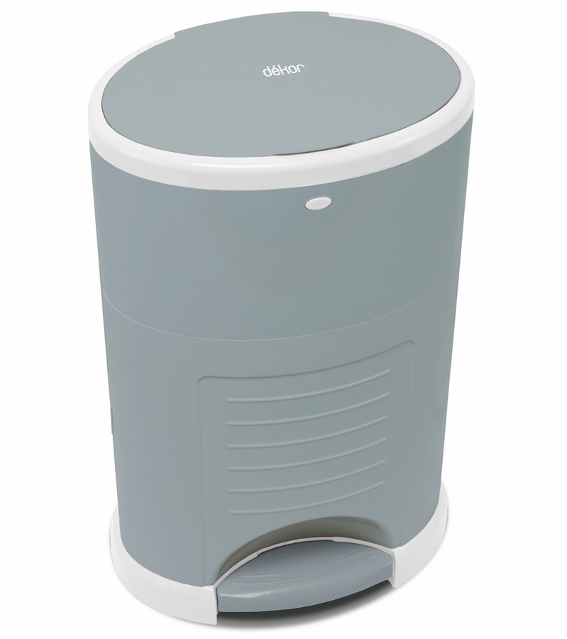 Dekor diaper dekor mini diaper pail gray for Dekor diaper pail