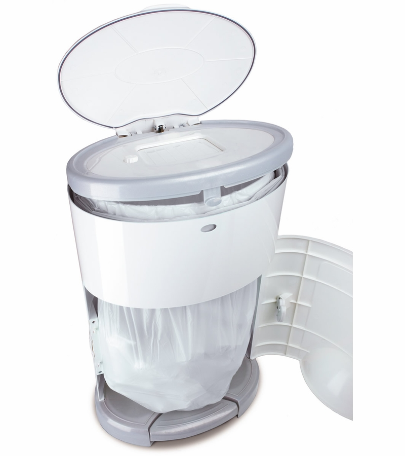 Dekor diaper dekor mini diaper pail white for Dekor diaper pail