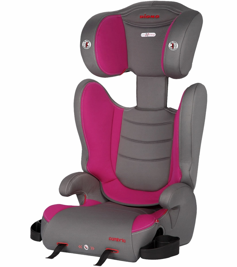 diono cambria high back booster car seat raspberry. Black Bedroom Furniture Sets. Home Design Ideas