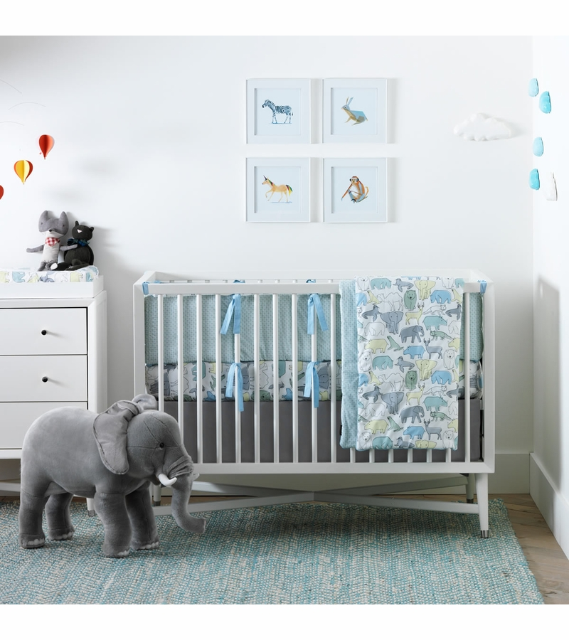 dwellstudio caravan fitted crib sheet