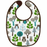 DwellStudio Owls Sky Coated Bib