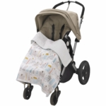 DwellStudio Skyline Light Blue Stroller Blanket