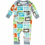 DwellStudio Transportation Multi Long Sleeve Playsuit 3-6 Months