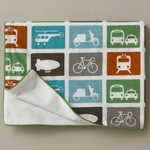 DwellStudio Transportation Multi Stroller Blanket - Flannel