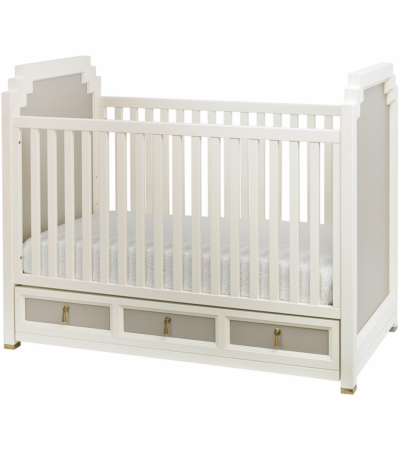 dwellstudio vanderbilt crib in french grey
