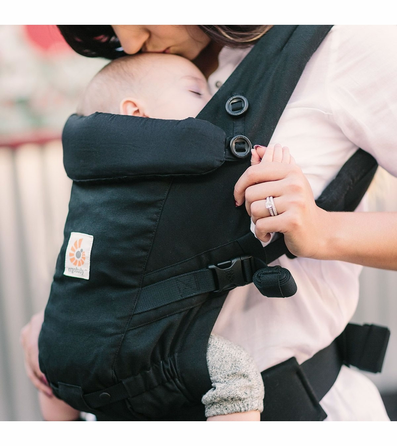 how to wear ergo baby carrier on back