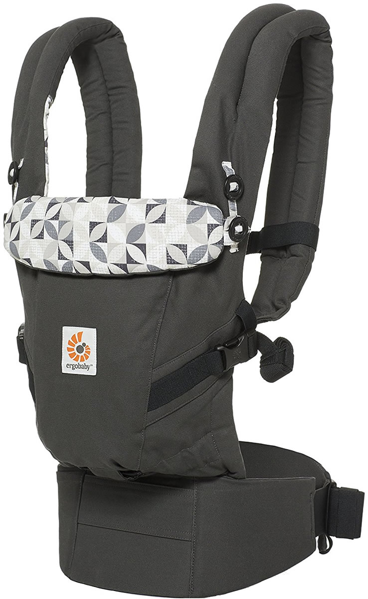 Ergobaby Adapt Baby Carrier - Graphic Grey