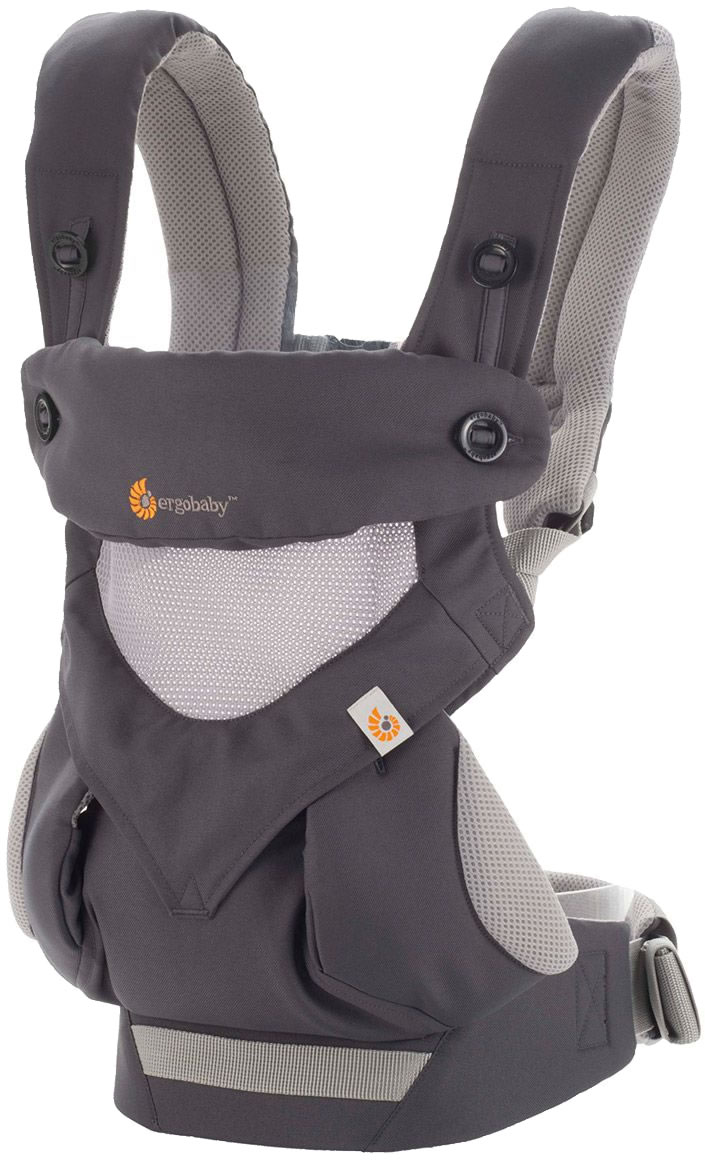 Ergobaby Four Position 360 Carrier, Cool Air - Carbon Grey