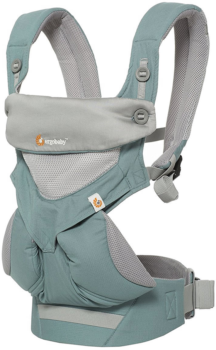 Ergobaby Four Position 360 Carrier, Cool Air - Icy Mint