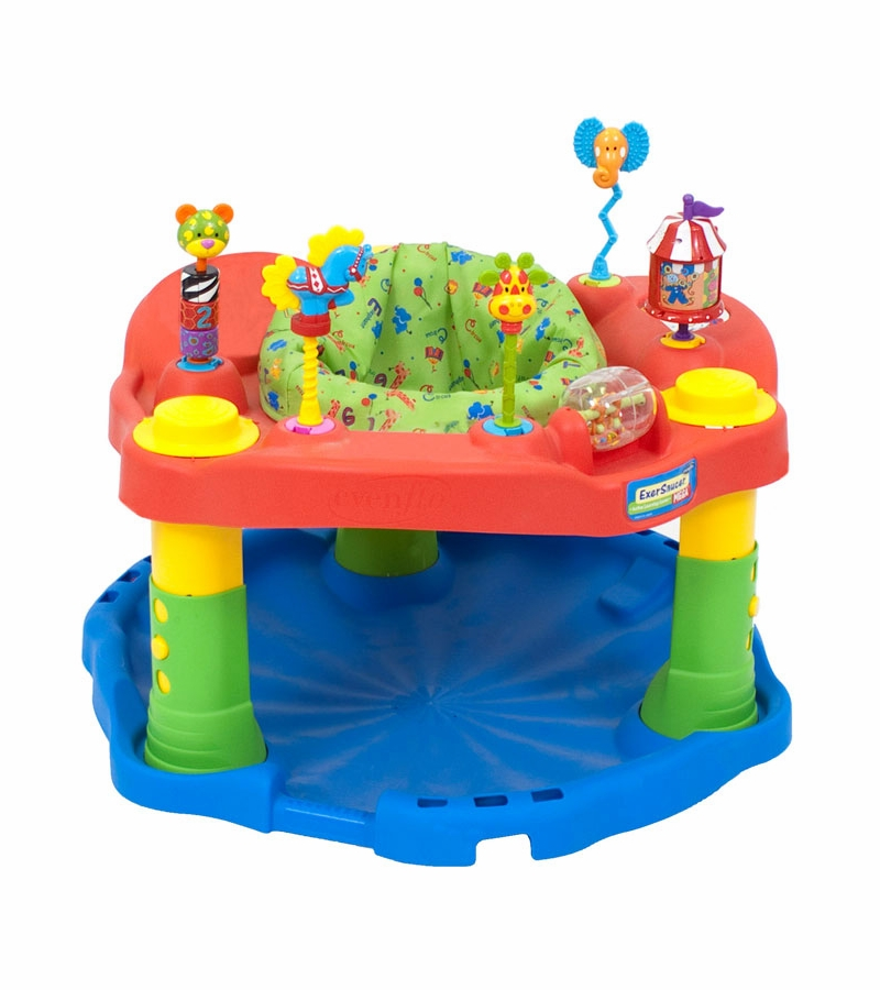 Evenflo Exersaucer Deluxe Active Learning Center Green Circus