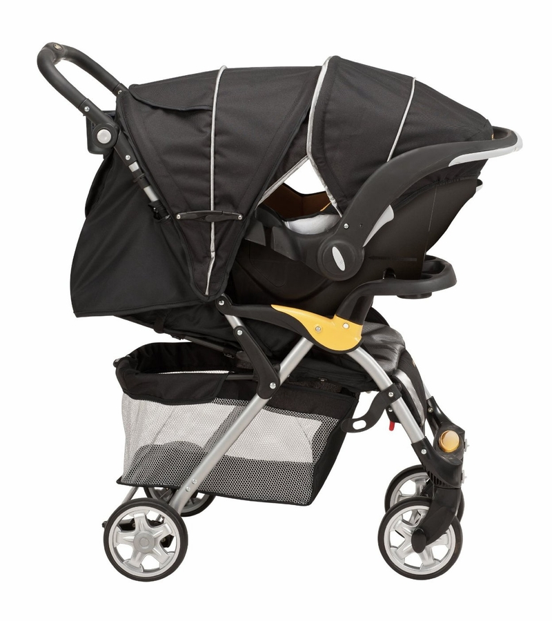 evenflo featherlite 400 stroller with embrace 35 car seat tangerine