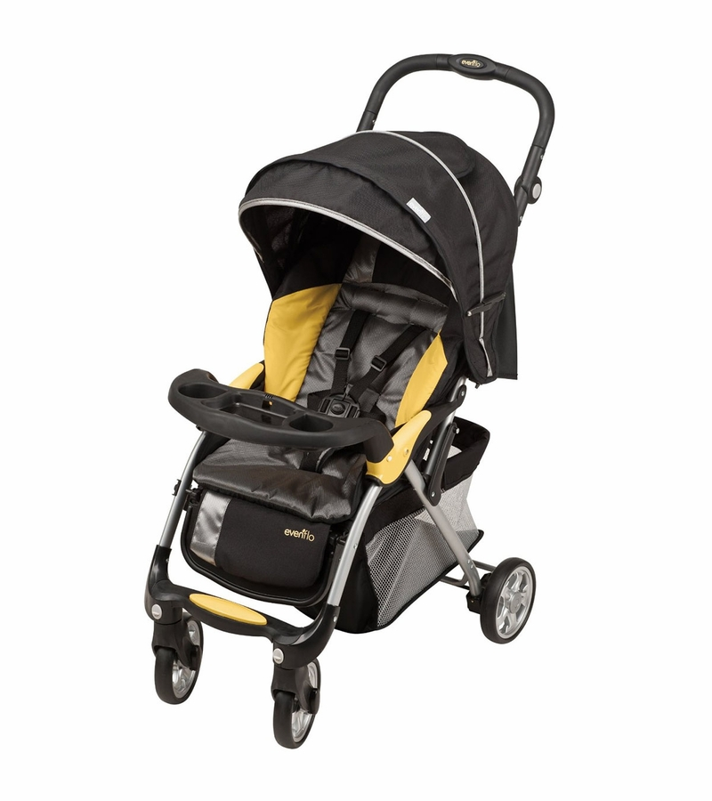 Evenflo FeatherLite 400 Stroller with Embrace 35 Car Seat - Tangerine