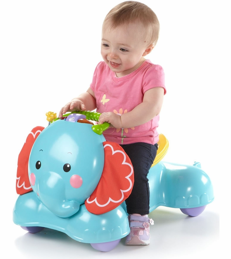 Fisher price 3 in 1 bounce stride ride elephant for Silla 3 en 1 fisher price