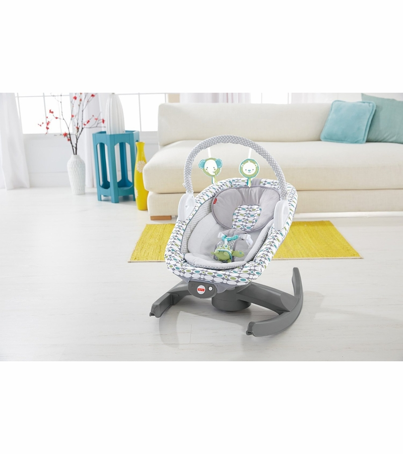 Fisher price 4 in 1 rock 39 n glide soother for Chaise 4 en 1 fisher price