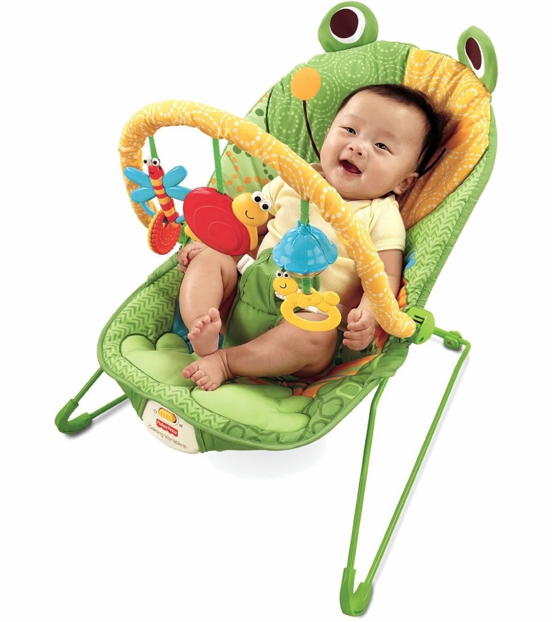 sc 1 st  Albee Baby & Fisher-Price Baby Infant Bouncer Seat Chair in Frog Green
