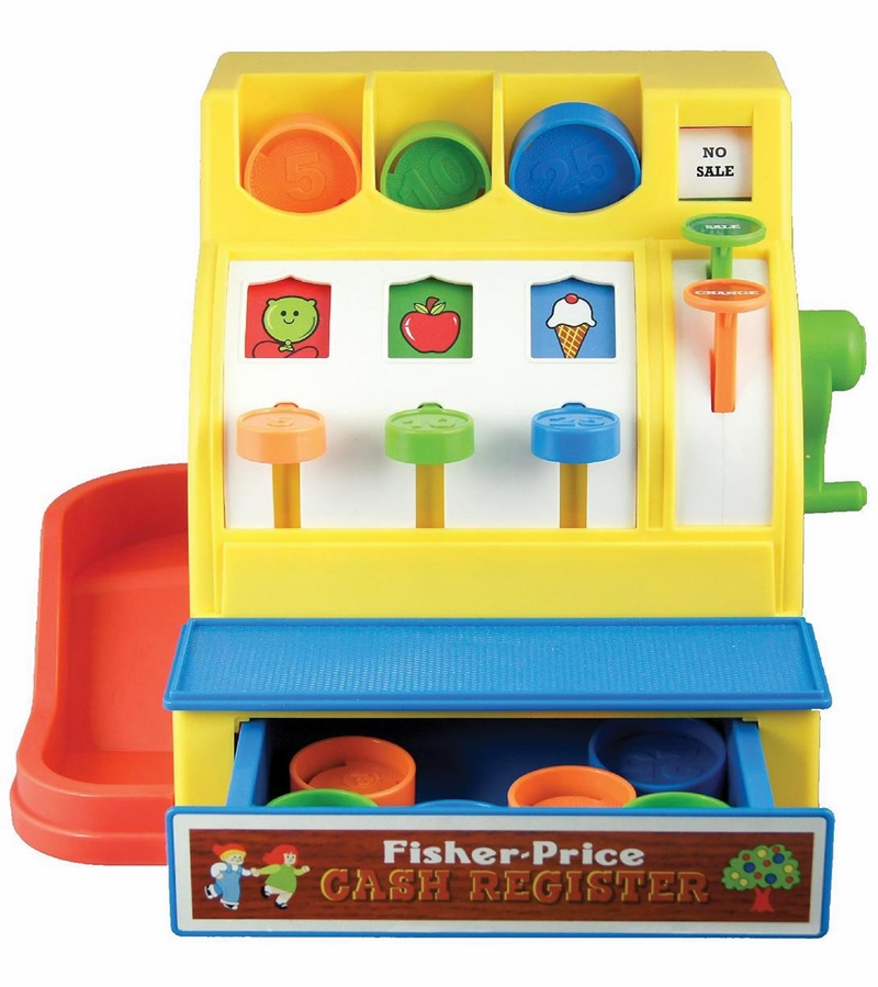 Classic Fisher Price Toys : Fisher price classic cash register