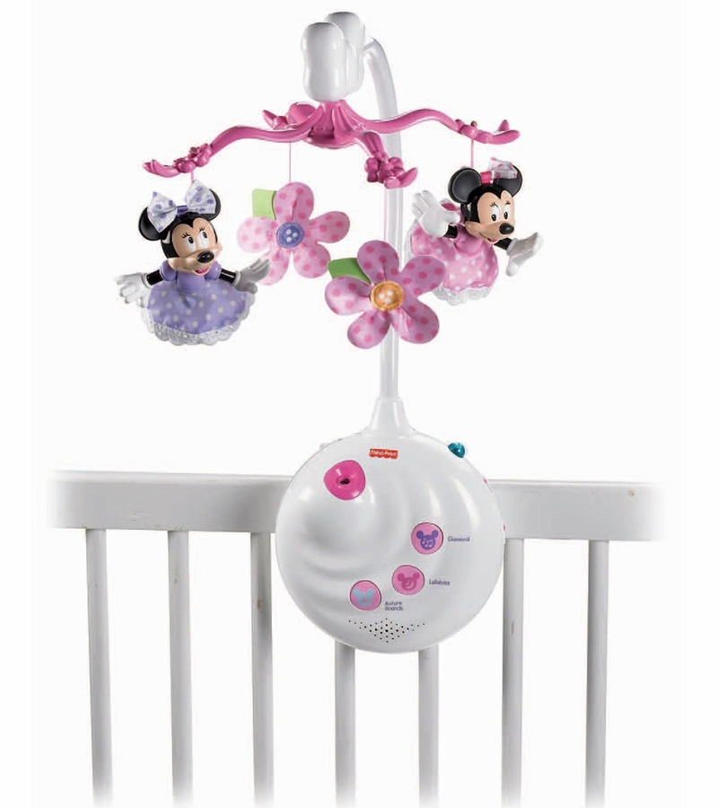fisher price disney baby minnie mouse projection mobile. Black Bedroom Furniture Sets. Home Design Ideas